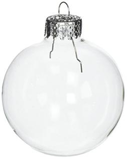 Darice Clear, Heavy Duty, Round Glass Balls – Removable To
