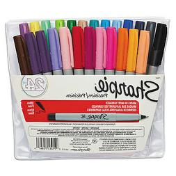 NEW - Permanent Markers, Ultra Fine Point, Assorted, 24/Set