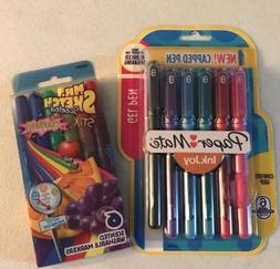 Paper mate gel pens and mr. sketch scented stix washable mar