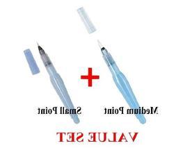 Pentel - Aquash Water Brush Medium Point & Small Point 2 Pen