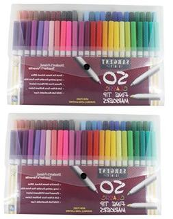 Sargent Art 22-1591 50-Count Fine Tip Classic Markers Pack -