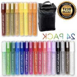 ARTOOLI Acrylic Paint Pen 30 Markers Set 0.7mm Extra Fine Ti