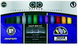 CHARTPAK AD12SET AD AD12 MARKER 12-COLOR BASIC SET