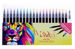 Adis Art Pro Watercolor Brush Pen Marker 20 Set & 1 Real Bru