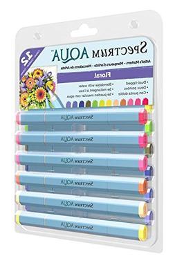 Spectrum Noir SPECN-AQ12-FLO Watercolor Marker Set
