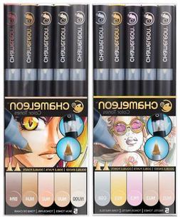 Chameleon Art Marker Pens- Dbl-Ended - Sets of 5 - Pastel To