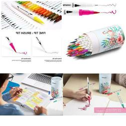 Ohuhu Art Markers Dual Tips Coloring Brush Fineliner Color P