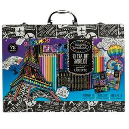 Art Set | 2 64-Page Coloring Books | 10 Fine Markers | 24 Co