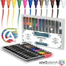 Art Supplies Oil-Based Paint Markers Medium, Assorted Colors