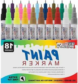 Glass Safe For Kids Fine, Assorted Colors Assorted Colors Stone and Ceramics Thorntons Art Supply 15 Vibrant Premium Oil-Based Paint Craft Marker Pens For Wood Metal 15-Count