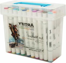Artify Artist Alcohol Based Art Marker Set/ 40 Colors Dual T