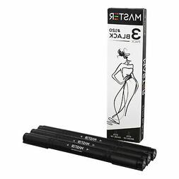 Artist Illustration Drawing Dual Tip Artist BLACK Markers Ch