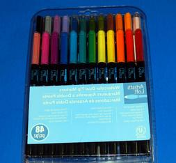 Artist's Loft Watercolor Dual Tip Markers 48 Piece NEW !! FR