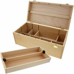 Us Art Supply Artist Wood Pastel, Pen, Marker Storage Box Wi