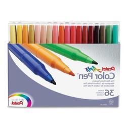 Pentel Arts 36 Colors Marker Pen Set Fine Point Fiber Tip As