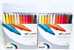 Pentel Arts Fine Point Color Markers 24 Colors Set, Lot of 2