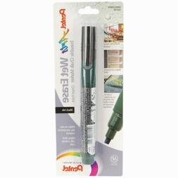 Pentel Arts Wet Erase Chalk Marker, Chisel Tip, Black Ink, 1