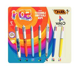BIC 4-Color Ballpoint Pen, Medium Point , Assorted Inks, 3-C