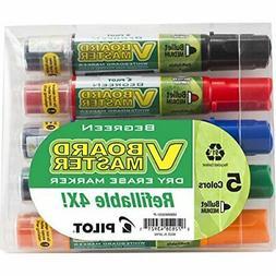 Pilot V Board Master Refillable Dry Erase Markers, Bullet Ti