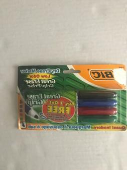 Bic Dry Erase Markers 4 Pack New Low Odor Great Erase Grip