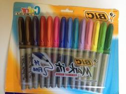 Bic 14 Colors Mark It Permanant Fine Point Markers