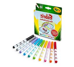 Crayola 588215 Fabric Marker Classpack, TEN Assorted Colors,