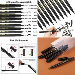 Black Brush Marker Pens, Calligraphy Pen Suitable For Cards