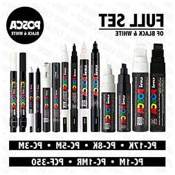 POSCA Black & White - Full Set of 14 Pens