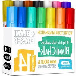 Blami Arts Chalk Markers and Chalkboard Labels Pack, 14 Eras