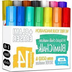 Blami Chalk Arts Markers And Chalkboard Labels Pack, 14 Eras