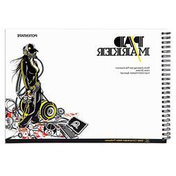 "Art Bleedproof Marker Paper Pad,9"" x 12"",0.7lb Drawing P"