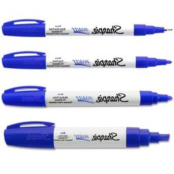 Sharpie Blue Paint Marker Oil Based All 4-Sizes Kit Markers