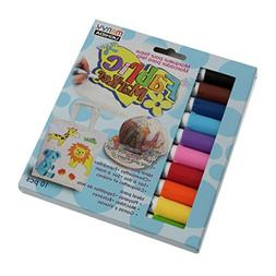 Panduro Bright Multi-colour Fabric Pens Pack of 10