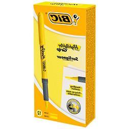 BIC Brite Liner Grip Highlighter, Chisel Tip, Fluorescent Ye