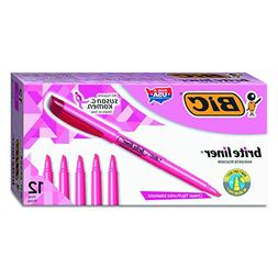 Brite Liner Highlighter, Chisel Tip, Fluorescent Pink Ink, 1