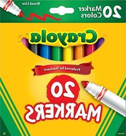 BRAND NEW Crayola 20 Pack Broad Line Markers New NIB