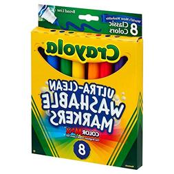 Crayola Broad Point Washable Markers, 8 Markers, Classic Col