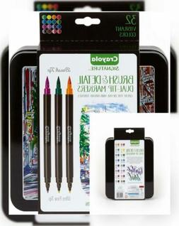 Crayola Brush Markers, Dual-Tip with Ultra Fine Marker, Moth