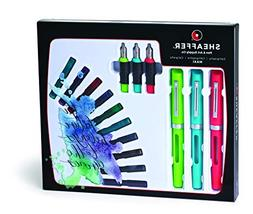Sheaffer Calligraphy Maxi Kit with 3 Viewpoint Fountain Pens