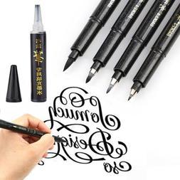Calligraphy Pen Hand Lettering Pens Brush Black Ink Writing
