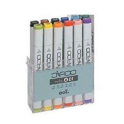 Alvin CB12 Copic Fine and Broad Original Marker Set Basic -