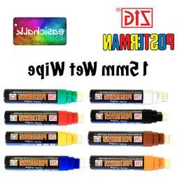 Zig Posterman Chalk Marker Pen Wet Wipe Large Jumbo Tip 15mm
