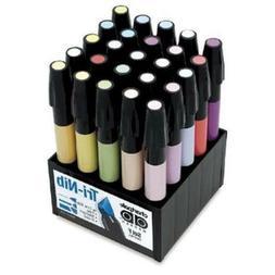 Chartpak Tri-Nibbed Pastel Permanent 25 AD Marker Set - Adma