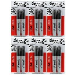 Sharpie Chisel Tip Permanent Markers: 12 Black Markers. Sanf