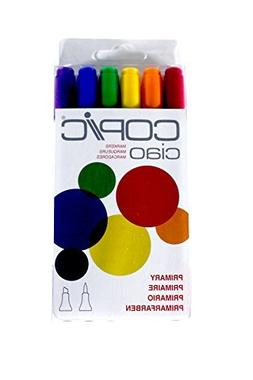 Copic Marker I6-PRIMA Ciao Markers, Primary, 6-Pack