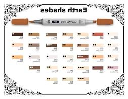 Copic Ciao Markers - Earth Shades - Refillable With Copic Va
