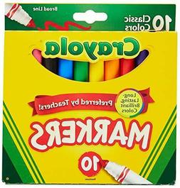 Crayola Classic Colors Broad Line Markers,10 Count