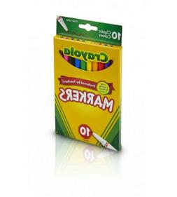 Crayola 10 Ct Classic Broad Line MarkersDiscontinued by manu
