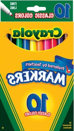 Crayola Classic Colors Fine Line 10 Markers Per Pack  60 Mar
