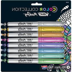 color collection by marking metallic permanent markers